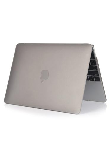 """Mcstorey MacBook Pro A1286 15.4"""" Kılıf Kapak Koruyucu Ruberized Hard Incase Mat Gri"""